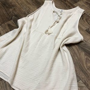 Old Navy Cream Cotton Blouse
